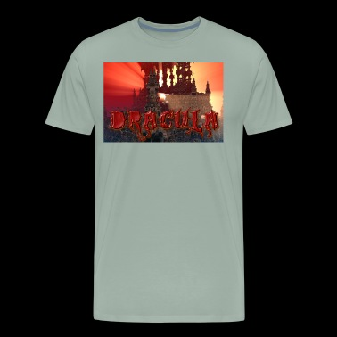 Dracula's castle at Dusk with Setting Sun Beam - Men's Premium T-Shirt