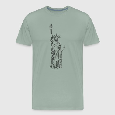 shirt statue of Liberty - Men's Premium T-Shirt