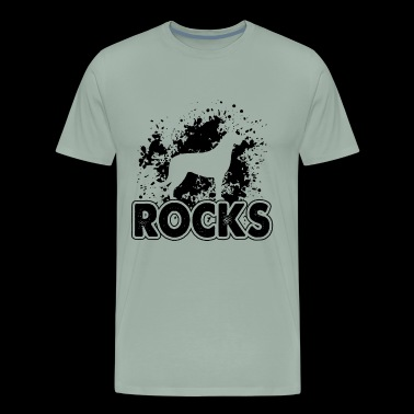 Irish Wolfhound Rocks Shirt - Men's Premium T-Shirt