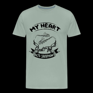 My Heart Best For Alto Saxophone Shirt - Men's Premium T-Shirt