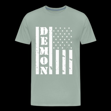 DEMON AMERICAN FLAG - Men's Premium T-Shirt