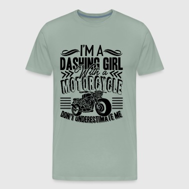 Dashing Girl With Motorcycle Shirt - Men's Premium T-Shirt