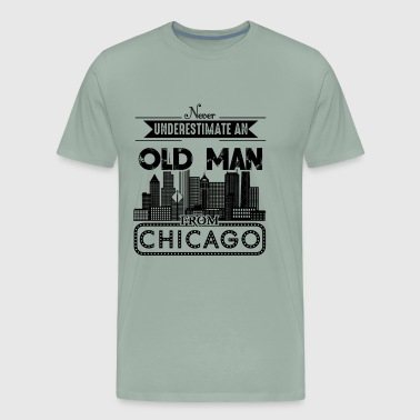 Old Man From Chicago Shirt - Men's Premium T-Shirt