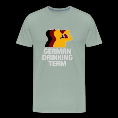 Cool German Drinking Team Drunk Shirt - Men's Premium T-Shirt