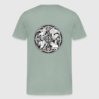 FOUR EVANGELISTS MEDALLION - Men's Premium T-Shirt