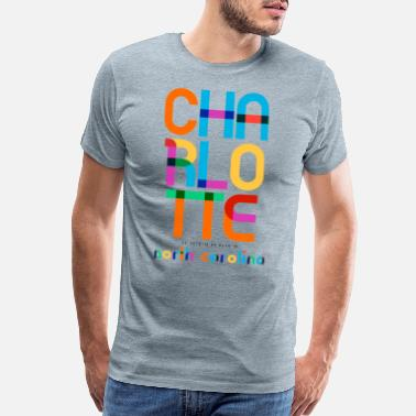 Century Charlotte North Carolina Mid Century, Pop Art, - Men's Premium T-Shirt