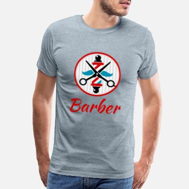 Hairstyle Vintage Barber Logo - Men's Premium T-Shirt