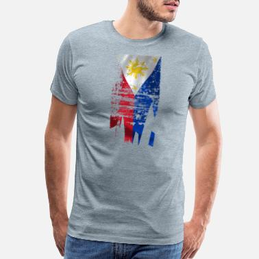 Filipino Flag Distressed Filipino Flag - Men's Premium T-Shirt