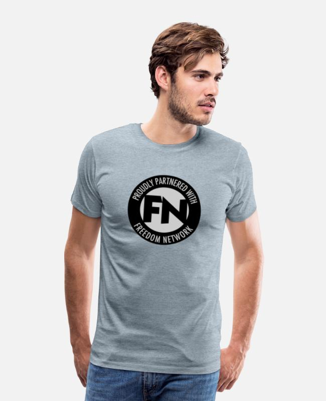 Demo T-Shirts - Freedom Network 2color - Men's Premium T-Shirt heather ice blue