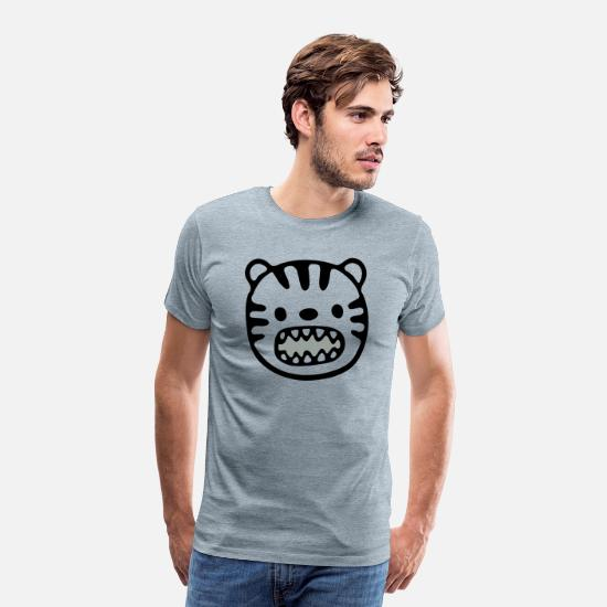 Birthday T-Shirts - Tiger vector / changeable Design - Men's Premium T-Shirt heather ice blue
