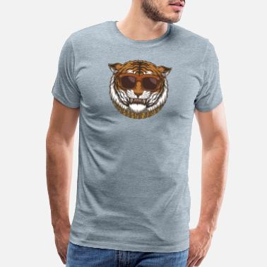 Regalos Tiger Head Eyeglasses - Men's Premium T-Shirt