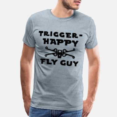Leia Trigger-Happy Fly Guy - Men's Premium T-Shirt