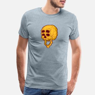 Ghastly Trippy Monster Skull - Men's Premium T-Shirt