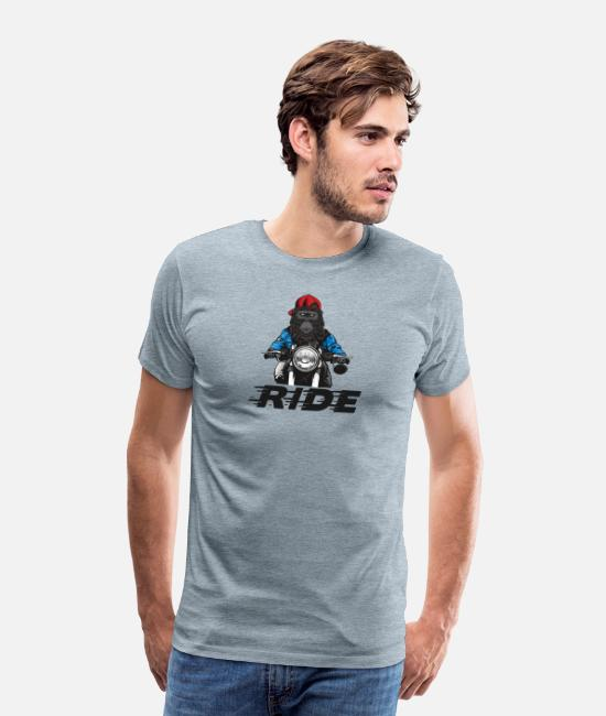 Quote T-Shirts - Ride - Men's Premium T-Shirt heather ice blue