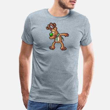 Dabbing Reindeer Graphic Gifts Christmas - Men's Premium T-Shirt
