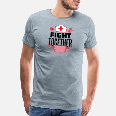 Lettering fight together - Men's Premium T-Shirt