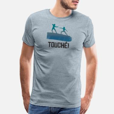 Trainer Funny fence sword fight gift - Men's Premium T-Shirt