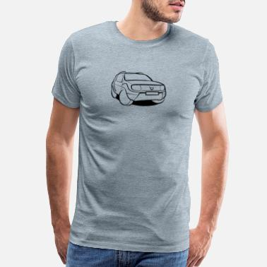 Lift Off SUV black/white - Men's Premium T-Shirt