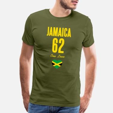 Labor Day Jamaica 62 One Love Jamaican Flag Caribbean - Men's Premium T-Shirt