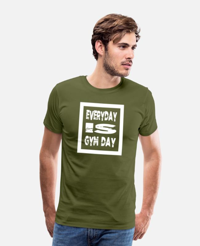 Only Love T-Shirts - gym is my new girlfriend power couple joke lift - Men's Premium T-Shirt olive green