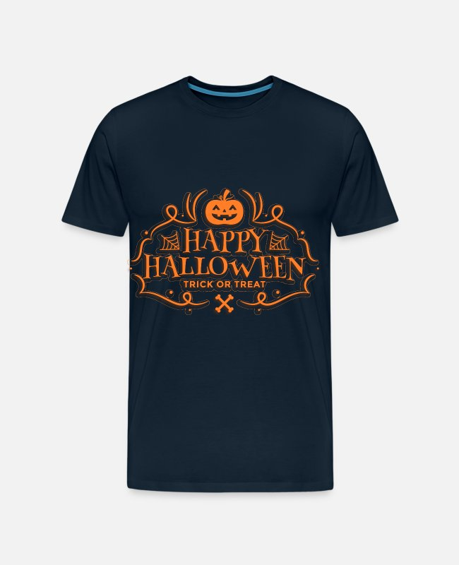 Happy Holidays T-Shirts - Happy Halloween Trick or Treat - Men's Premium T-Shirt deep navy