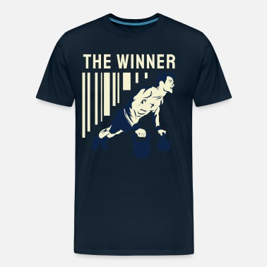 Body Builder The Winner - Gym, Fitness - Men's Premium T-Shirt