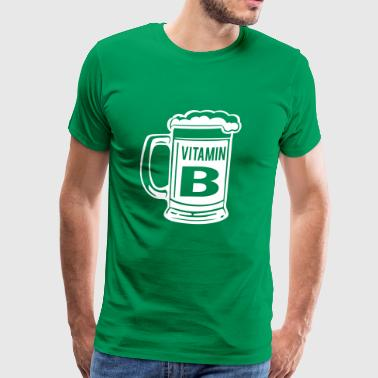 Beer. Vitamin B - Men's Premium T-Shirt
