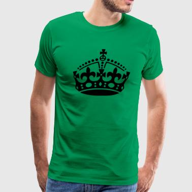 Keep Calm Crown - Men's Premium T-Shirt