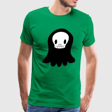 funky SKULL with floating ghost shape creepy! - Men's Premium T-Shirt