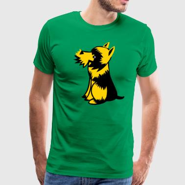 scottie dog cute  - Men's Premium T-Shirt