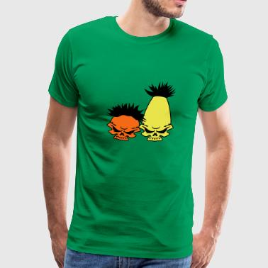 Zombie Street – Bert and Ernie - Men's Premium T-Shirt