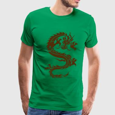 Chinese Dragon Tattoo 5 - Men's Premium T-Shirt