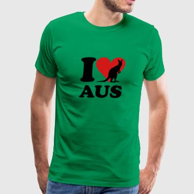 I love AUS Kangaroo - Men's Premium T-Shirt