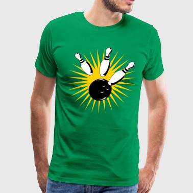 bowling ball bowling strike - Men's Premium T-Shirt