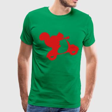 Squirrel on Scooter - Men's Premium T-Shirt