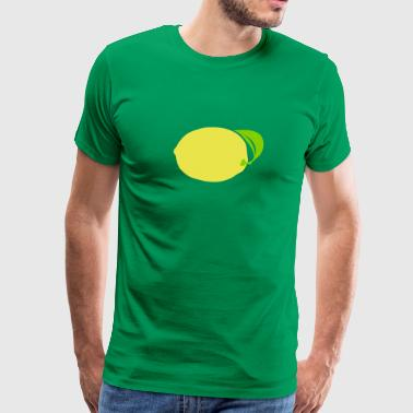 lemon fruit 611 - Men's Premium T-Shirt