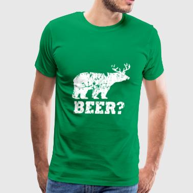 bear beer deer white - Men's Premium T-Shirt
