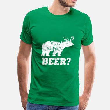 Beer Deer Bear bear beer deer white - Men's Premium T-Shirt