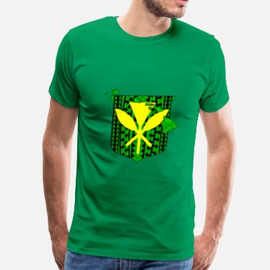 Kanake Hawaii Coat Of Arms - Men's Premium T-Shirt