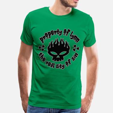 Entering Lynn the real city of sin - Men's Premium T-Shirt