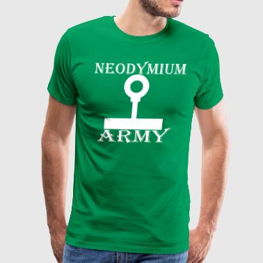 Neodymium Army White - Men's Premium T-Shirt