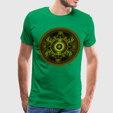 Metatron's Magick Wheel ~ Sacred Geometry - Men's Premium T-Shirt