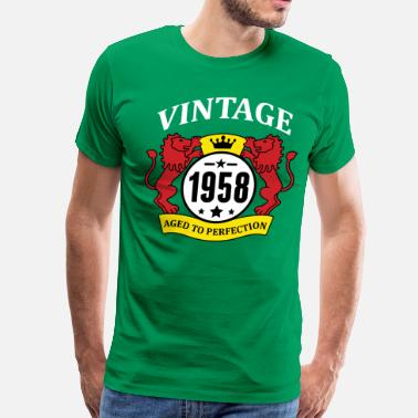 Vintage 1958 Aged To Perfection Vintage 1958 Aged to Perfection - Men's Premium T-Shirt