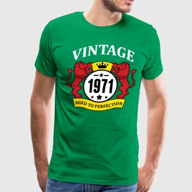 1971 Aged To Perfection Vintage 1971 Aged to Perfection - Men's Premium T-Shirt