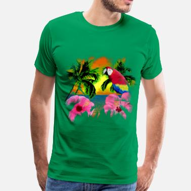 Jungle Tropical Sunset - Men's Premium T-Shirt