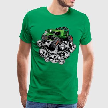 Rock Crawling The Green Grim Jeeper - Men's Premium T-Shirt