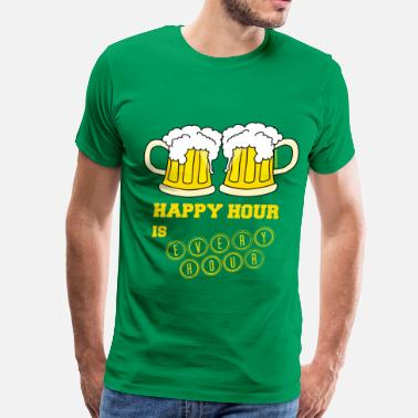 By The Hours Happy Hour is Every Hour - Men's Premium T-Shirt