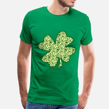 Gravityx9 St. Patrick's Day Clovers - Men's Premium T-Shirt