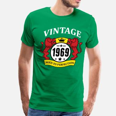 1969 Aged To Perfection Vintage 1969 Aged to Perfection - Men's Premium T-Shirt