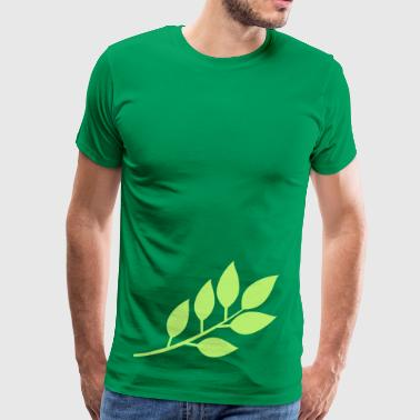 branch with leaves  - Men's Premium T-Shirt